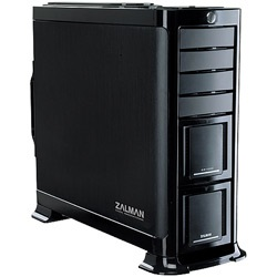 GS1000 Black Full Tower Case, EATX, 7 slots, No PSU, Aluminum