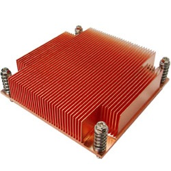 G129 Socket 1366 Passive Heatsink for 1U Server Chassis, Copper