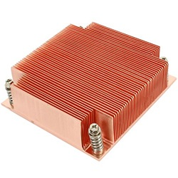 K129 Socket 1156 Passive Heatsink for 1U Rack Server Chassis, Copper