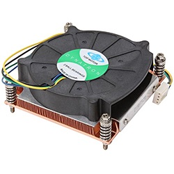 K199 Socket 1156 Active CPU Cooler for 1U Rack Server Chassis, Copper