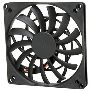 KAZE JYU SLIM 100mm Case Fan, 1000 RPM, 15.23 CFM, 14.5 dBA, Black