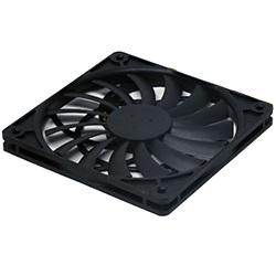 Slip Stream Slim 120mm Case Fan, 1600 RPM, 38.05 CFM, 28.89 dBA, Black