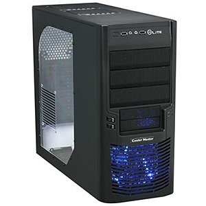 Elite 430 Black Mid-Tower Case w/ Window, ATX, No PSU, Steel/Plastic