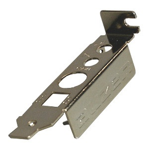 SLBRACKET28 PC Case Slot Bracket for Sound Card, Half-Height, Steel