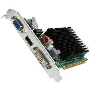 GeForce® 8400 GS (Fanless) 520MHz, 1GB GDDR3 1200MHz, PCIe x16, VGA+DVI+HDMI, Retail