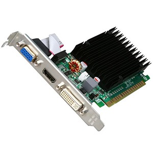 GeForce® 8400 GS (Fanless) 520MHz, 512 MB GDDR3 1200MHz, PCIe x16, HDMI + DVI + VGA, Retail