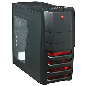 Storm Enforcer (SGC-1000-KWN1) Black Mid-Tower Case w/ Window, ATX, No PSU, Steel/Plastic