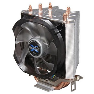 CNPS7X LED CPU Cooler, Socket 1155/1156/1366/775/AM3/AM2, 135mm Height, Copper/Aluminum, Blue LED