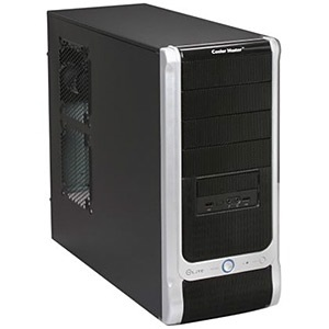 Elite 330 Upgraded Black Mid Tower Case, ATX, No PSU, Steel/Plastic