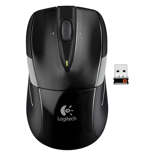 M525, 3 Buttons, 1000dpi, Wireless 2.4GHz, Black/Grey, Retail Optical Mouse