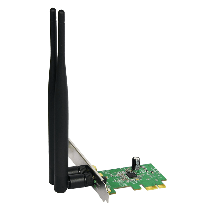 WF2113, Internal, IEEE 802.11b/g/n, 2.4GHz, 300 Mbps, PCI Express 2.0 x1, Retail Wireless Adapter