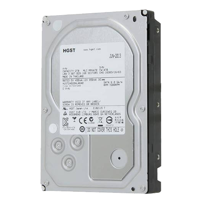 Ultrastar 7K4000, 2 TB, Internal Hard Drive, SATA 6Gb/s, 3.5 Inch, 7200 rpm, 64 MB Buffer, OEM
