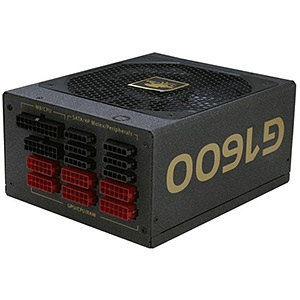 Gold G1600-MA 1600W Power Supply w/ Modular Cables, 80 PLUS® Gold, 24-pin ATX12V 2x EPS12V, 10x 8/6-pin PCIe, Retail