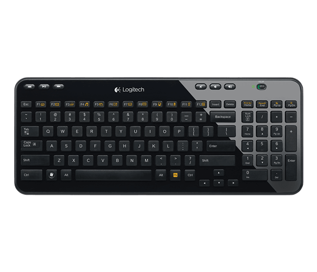 K360, Wireless, Black, Retail Mini Keyboard