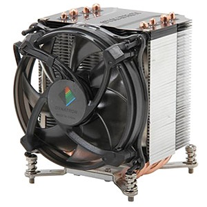 G17 Socket 1366/1356 Active 3U CPU Cooler, 2500 RPM, 2 Ball Bearing, 140W TDP, 110mm Height, Aluminum/Copper