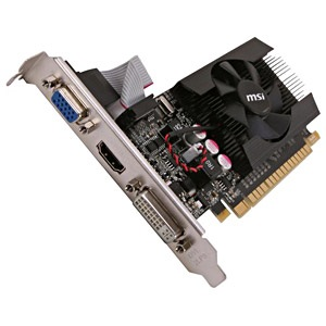 N630GT-MD4GD3, GeForce® GT 610 810MHz, 1GB DDR3 1334MHz, PCIe x16, HDMI + DVI + VGA, Full-height/Low-profile, Retail