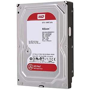 1TB WD Red™ (WD10EFRX), SATA 6 Gb/s, IntelliPower™, 64MB cache, OEM