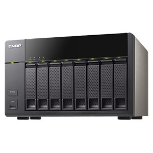 TS-869L-US 8-bay NAS Server, Intel® Atom 2.13GHz Dual-Core, 1GB DDR3, 512MB DOM, SATA RAID 6 /8, eSATA /2, GbLAN /2, USB 3.0 /2, USB 2.0 /5, 350W PSU