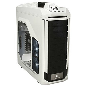 CM Storm Stryker White/Black Mid-Tower Case, XL-ATX, No PSU, Steel/Plastic