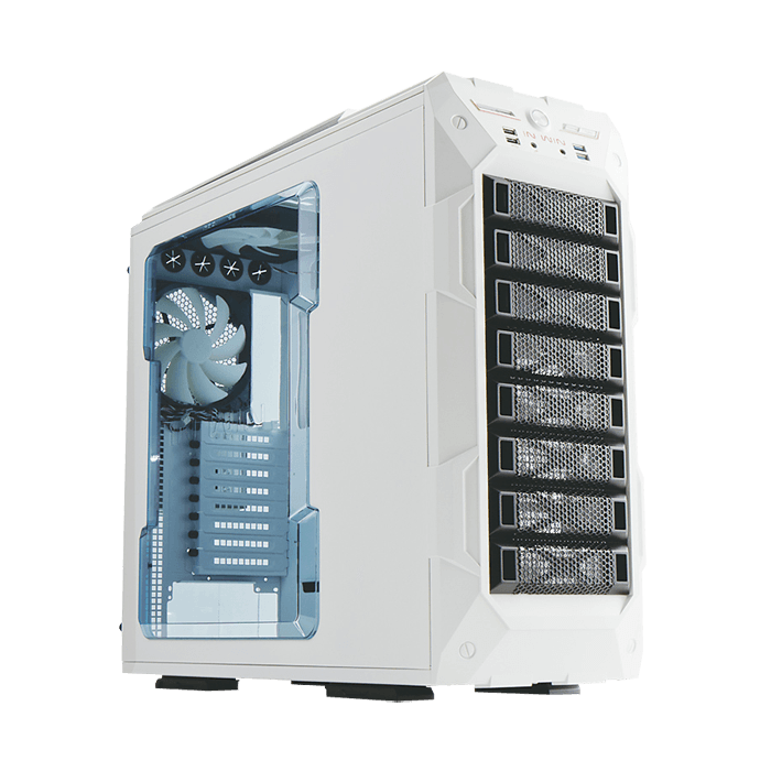 GR One w/ Window, No PSU, E-ATX, White, Full Tower Case