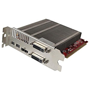 Radeon™ 6760 (fanless), 1GB GDDR5, PCIe x16, 2x mini-DP + HDMI + 2x DVI, Retail