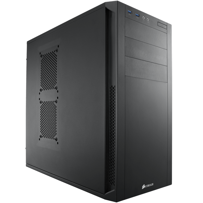 Carbide Series™ 200R Black Mid-Tower Computer Case, ATX, No PSU, Steel/Plastic