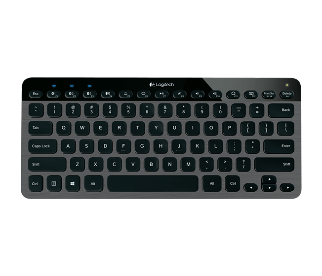 K810, Illumination, Bluetooth - USB, Black, Retail Keyboard