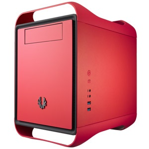 Prodigy Fire Red Mini Tower Case, Mini-ITX, 2 slots, Steel/Plastic