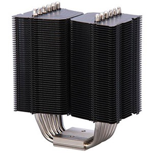 Black Megahalems CPU Cooling Heatsink, Socket 2011/1155/1156/1366/775/FM2/FM1/AM3/AM2, 159mm Height, Retail