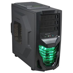Cobra Black Mid-Tower Case, ATX, No PSU, Steel/Plastic