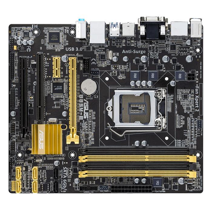B85M-E/CSM, Intel B85 Chipset, LGA 1150, DDR3 32GB, HDMI, microATX Retail Motherboard