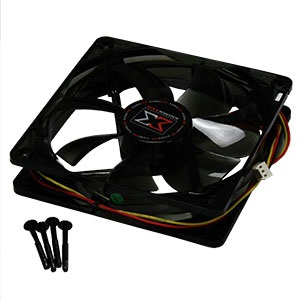 DF1202512SEMN 120mm Black Case Fan w/ White LED, 3-Pin Power Connector