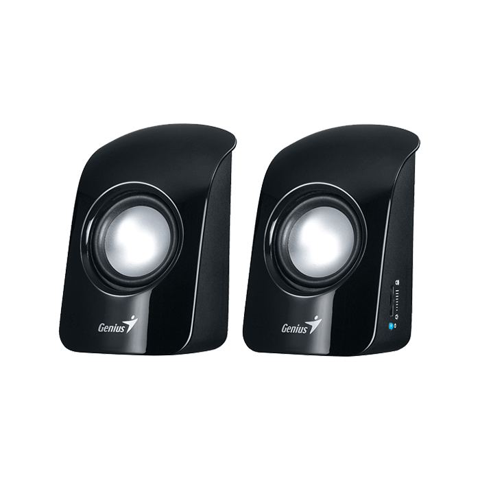 SP-U115, 2.0 (2x0,5W), Black, Retail Speaker System