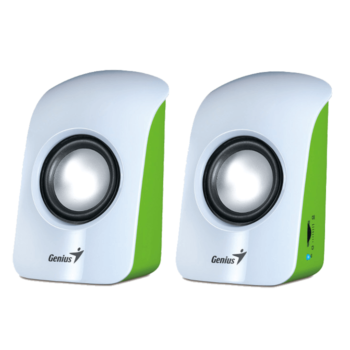 SP-U115, 2.0 (2x0,5W), White, Retail Speaker System