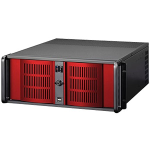 D Storm D-400L-7-RED Black 4U Rack Server Chassis w/ Red Doors, SAS/SATA HDD, EATX, No PSU