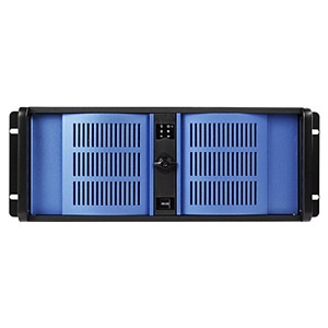 D Storm D-400L-7-BLUE Black 4U Rack Server Chassis w/ Blue Doors, SAS/SATA HDD, EATX, No PSU