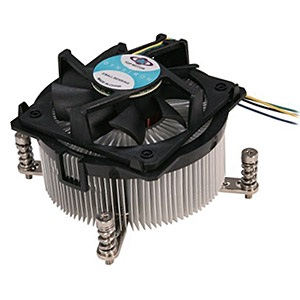 R9 Socket 2011 Active 2U CPU Cooler, 4500 RPM, 95W TDP, 62mm Height, Aluminum/Copper