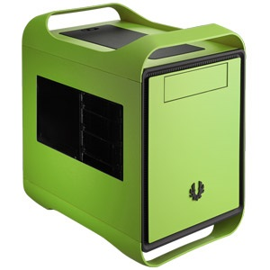 Prodigy Vivid Green Mini Tower Case w/ Window, Mini-ITX, 2 slots, Steel/Plastic