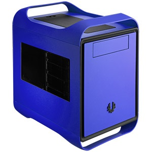 Prodigy Cobalt Blue Mini Tower Case w/ Window, Mini-ITX, 2 slots, Steel/Plastic