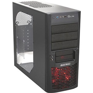 Elite 430 Black Mid-Tower Case w/ Window, USB 3.0 /1, ATX, No PSU, Steel/Plastic