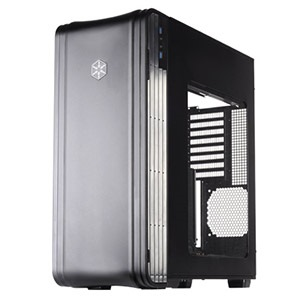 Fortress FT04B-W Black Tower Case w/ Window, USB 3.0 /2, EATX, 8 slots, No PSU, Steel/Plastic