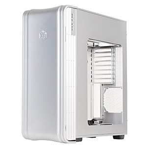 Fortress FT04S-W Silver Tower Case w/ Window, USB 3.0 /2, EATX, 8 slots, No PSU, Steel/Plastic