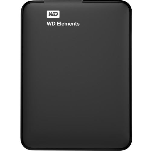 1TB WD Elements Black External Hard Drive, USB 3.0, Retail