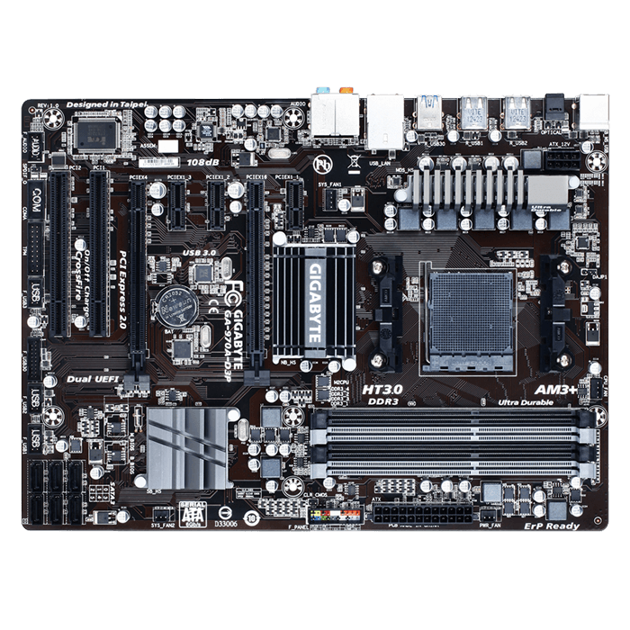 GA-970A-D3P, AMD 970 Chipset, AM3+, DDR3 32GB, ATX Retail Motherboard