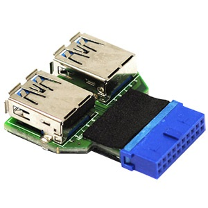 UC-01 USB 3.0 20-pin Header 2x USB 3.0 Type A Converter