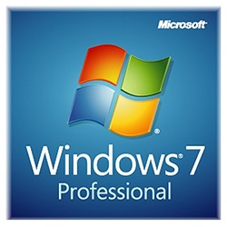 DVD Media for Windows 7 Professional 64-bit Edition w/ SP1, OEM, No Product Key Sticker / No License