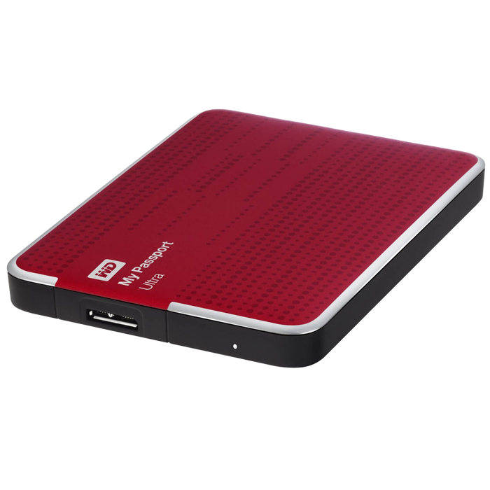 500GB WD My Passport Ultra, USB 3.0, Portable Red, Retail External Hard Drive