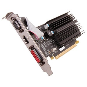 One R Plus Radeon™ HD 5450 (Fanless) 650MHz, 1GB DDR3 1066MHz, PCIe x16, DVI + VGA + HDMI, Full-height/Low-profile, Retail
