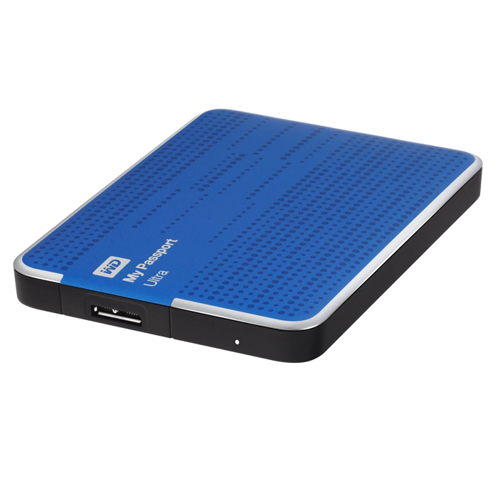 500GB WD My Passport Ultra, USB 3.0, Portable Blue, Retail External Hard Drive
