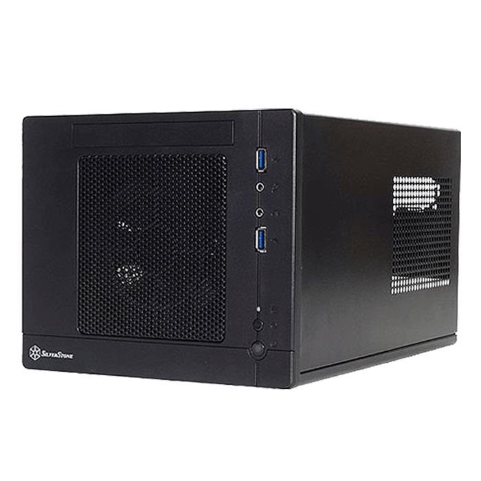 Sugo Series SST-SG05BB-LITE, No PSU, Mini-ITX, Black, Mini Cube Case